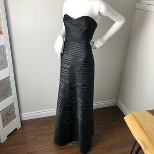 BCBG Black Strapless Gown Maxi Dress 0
